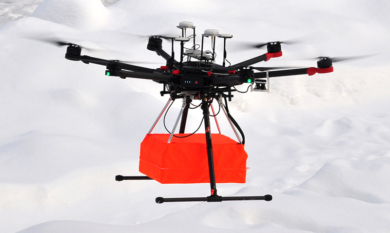 The GPR-drone integrated system with Radar Systems Zond-12e